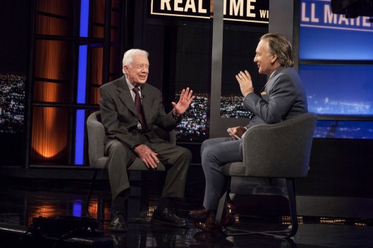 "2 seat interview: Bill Maher and Pres. Jimmy Carter- Founder, The Carter Center, Author, ""A Call To Action"" ;"