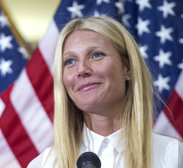 Academy award-winning actress Gwyneth Paltrow delivers remarks regarding GMO labeling and her opposition to the Safe and Accurate Food Labeling Act of 2015, during a press conference August 5, 2015 on Capitol Hill in Washington, DC. Nicknamed the DARK Act,(Deny Americans the Right to Know) the Safe and Accurate Food Labeling Act of 2015, is a proposal to create a national standard regarding the labeling of genetically engineered organisms (GMOs) being considered by the U.S. House of Representatives. If passed, the bill would override state laws that require foods containing GMO ingredients to be labeled.          AFP PHOTO/PAUL J. RICHARDS        (Photo credit should read PAUL J. RICHARDS/AFP/Getty Images)