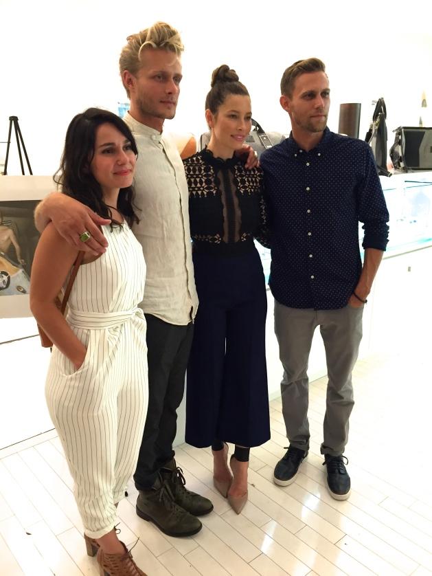 L-R LO SAMPADIAN, GRASON RATOWSKI, JESSICA BIEL, AND JUSTIN BIEL