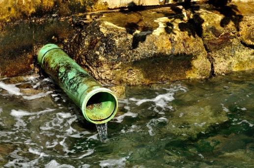 Water runoff into the ocean